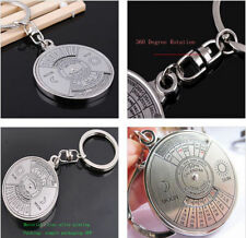 Chain Gift...50 years.Perpetual Calendar Keyring keyfob Unique.Compass Metal Key