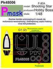 F-80A étoile filante peinture masque pour hobby-boss kit #48006 1/48 pmask