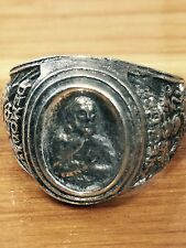 VINTAGE sterling silver masonic demolay chevalier ring size 10