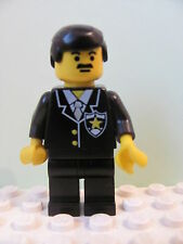 LEGO Minifig cop011 @@ Police Suit & Sheriff Star Black Hair 1786 4559 6348 6598