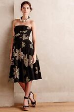 NWT Sz 4 Anthropologie Tropical Twilight Dress Floral Tracy Reese's S Size Small