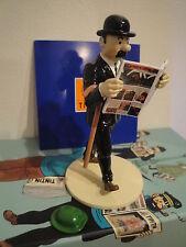 Hergé Figurine – Lisez Tintin – « Dupond + Chapeau de Tournesol » Moulinsart