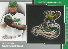 Victor Sanchez Seattle 2013 Topps Heritage Minor League Hat Logo Card