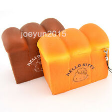 New Jumbo Girls Cute KT Squishy Toast Bread Scented Phone Straps Key Chains Toy