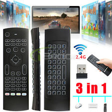 2.4G Backlight Air Mouse Wireless Keyboard Remote Control for Smart TV HDTV PC
