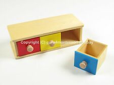 NEW Montessori Infant Toddler Material- Wooden Box with Bins