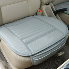 Car Front Seats Cover PU Leather Grey Single Bucket Seat Protector Mat Cushion