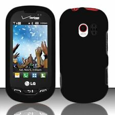 Hard Rubberized Case for LG Extravert VN271 - Black