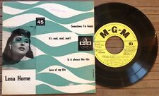 "LENA HORNE / SOMETIMES I'M HAPPY - 7"" (4 tracks - printed in Italy) RARE !!!"