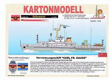 MDK-Verlag 7034-Scatola di cartone modello-rilievo nave Gauss del SHD della RDT - 1:250