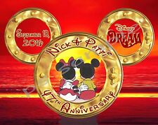 8X10 CUSTOM Disney Cruise Door Magnet - ANNIVERSARY # 2 sunset & portholes