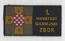 CROATIA ARMY - HVO -  1 CROATIAN GUARD CORPS HVO , patch