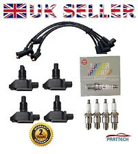 MAZDA RX8 4 x IGNITION COIL PACKS + 4 x NGK SPARK PLUGS + SILICONE LEADS **NEW**