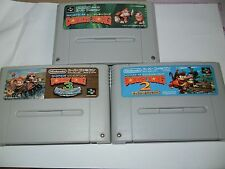 Nintendo SNES Super Famicom Donkey Kong Country 1 2 3 USED Japan Import