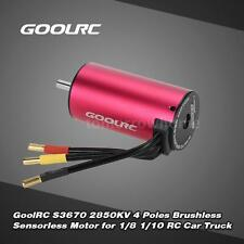 GoolRC S3670 2850KV 4 Poles Brushless Sensorless Motor for 1/8 1/10 RC Car B7P8