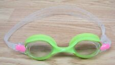 Genuine Speedo Clear Lens Green Frame Adjustable Childrens Swim Goggles **READ**