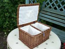 WICKER HONEYCROFT DARK SEWING BASKET STORAGE BOX BEAUTIFUL ITEM