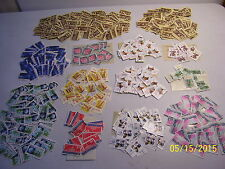 Large Lot of Used Off Paper U.S Setenant Singles Stamps in Glassines (READ AD)