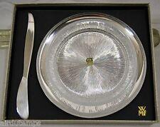 COFFRET ASSIETTE WMF 1960 métal argté & cristal