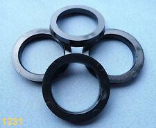 (1231) 4 Stück  Zentrierringe 70,1 / 54,1 mm schwarz / grau für Alufelgen