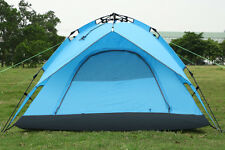 Blue Outdoor Automatic 3-4 Persons Waterproof Double Layer Instant Camping Tent