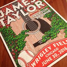 Wrigley Field Gigposter James Taylor Jackson Browne Chicago Poster Signed GIGART