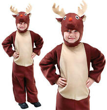 Childrens Kids Reindeer Fancy Dress Costume Christmas Childs Xmas Outfit M
