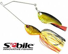 Sebile Pro Shad Spinnerbait Trophy Model Bass Lure 1oz 28g Black Gold Orange J05