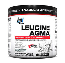 BPI Sports Leucine AGMA Unflavored - Amino Acid (40 Servings)(Best By 10/2016)