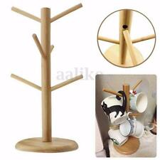 Wooden Mug Stand Rack Holder Tree Coffee Tea Cup Kitchen Storage Organization