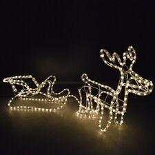 Tubo di luci Renna 47x37cm 324 luci bianco caldo IP44 interno/esterno Natale
