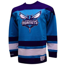 Charlotte Hornets Mitchell & Ness NBA Mesh Long Sleeve Hockey Jersey XL