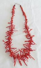 "VINTAGE  RED BRANCH NATURAL CORAL NECKLACE 18"" of Coral"