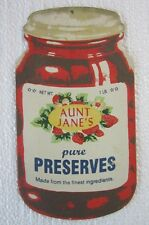 Aunt Jane Preserves Jam Jelly Jar Decor Plasma Cut Metal Sign