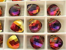 6 Crystal Volcano Swarovski Crystals Pendants Briolette 6012 11mm