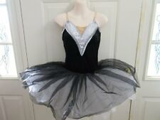White Black Gray Silver Ballet Tutu Dress Dance Costume Medium Adult MA