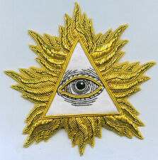 Masonic All Seeing Eye Pyramid Secret Occult RA Badge Patch Master Lodge Seal 33