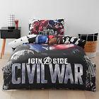 MARVEL CIVIL WAR CAPTAIN AMERICA AVENGERS QUEEN bed QUILT DOONA COVER SET NEW