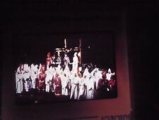 Photo slide white Black History KKK Klu Klux Klan Meeting burning cross gather