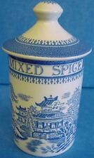 SPODE BLUE ROOM MIXED SPICE SPICE JAR OR HERB POT MANDARIN PATTERN