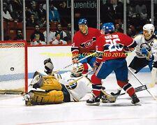 MATS NASLUND & STEPHANE RICHER Score GOAL vs Buffalo Puppa 8x10 CANADIENS Greats