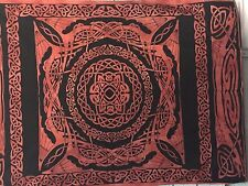 Tapestry Wall Hanging CELTIC dragons  working Fair Trade