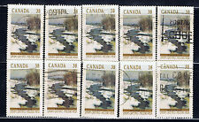 Canada #1256(10) 1989 38 cent WINTER LANDSCAPES BEND IN GOSSELIN RIVER 10 Used