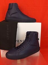 NIB GIVENCHY NAVY LEATHER URBAN KNOTS HI TOP TRAINER SNEAKERS 40 7