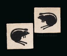 Pair of 8th Armoured Division Desert Rat Formation Arm Badges