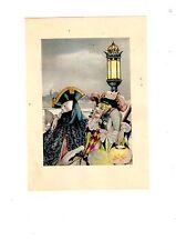 GRAVURE AU POCHOIR DE BRUNELLESCHI 20ème ART NOUVEAU CARNAVAL A VENISE