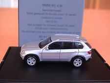 Herpa BMW X 5 E-70 2006 silbermet. 80419413423 Klappbox BMW-OV