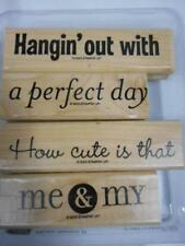 Stampin Up PHRASE STARTERS II 4 WM Rubber Stamps Me & My a perfect day Cute 2003