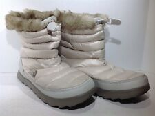 The North Face Women's Size 8 Thermoball Ivory Insulated Winter Boots ZE-1059