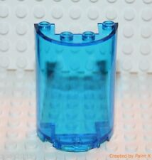 Lego 1x Transparent Dark Blue Half Cylinder Panel 2x4x5 (85941) NEW!!!